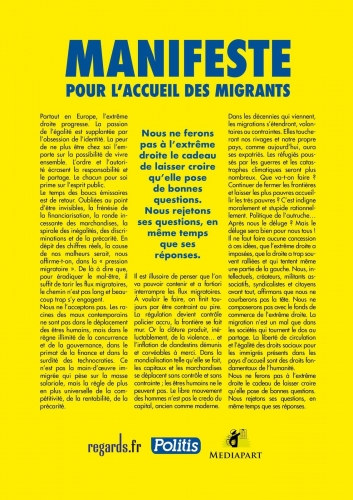 politique, manifeste 150, migrants, société, migrants, amaury watremez