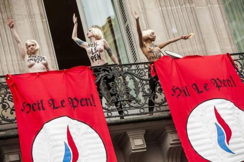 politique ump, PS, Femen, 1er mai