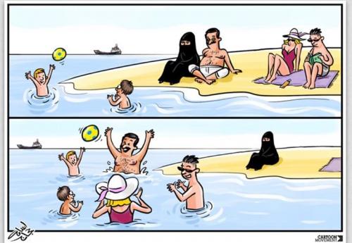 politique, islam, religions, société, caricature, amaury watremez